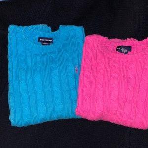 Ralph Lauren Cable Knot Cotton Sweater. Bundle